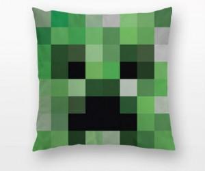 Minecraft Creeper Throw Pillow – Time for sssssllleeeeeeppp