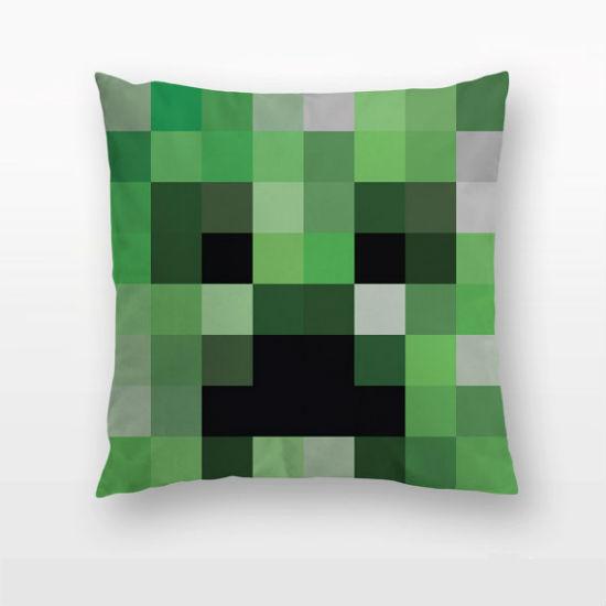 minecraft creeper throw pillow