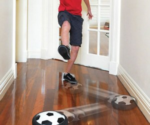 Turn any floor into your personal air soccer arena!