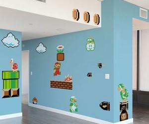 Nintendo Super Mario Wall Graphics – I can hear the Mario music already!