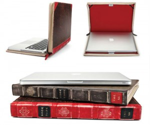 Your laptop will look and feel a lot classier disguised as a leather bound book!