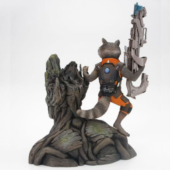 rocket and groot statue