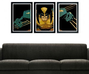 Add a sense of fierce unbridled intensity to any room with a Wolverine Poster Set