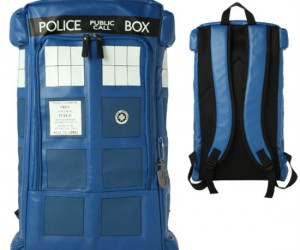 Doctor Who TARDIS Backpack – It's big enough on the inside to hold all of your homework!