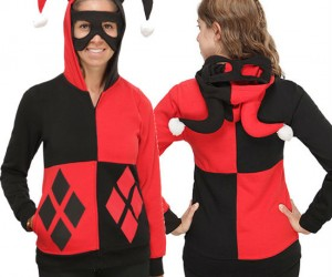 Batman Harley Quinn Hoodie – Black is flattering and red doesn't show blood!