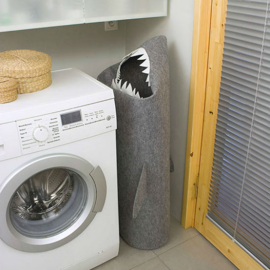 shark felt laundry basket