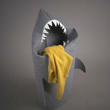 felt shark laundry basket