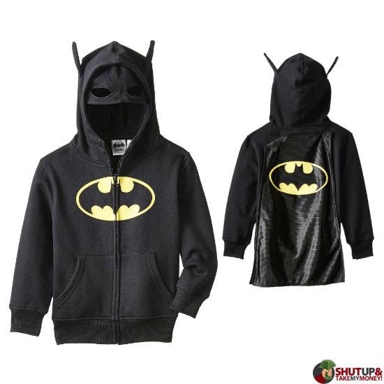 batman kids costume hoodie