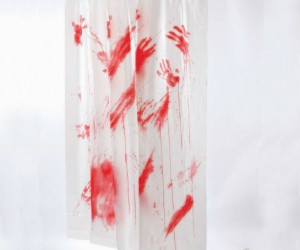 Bloody Shower Curtain – Norman Bates approved.