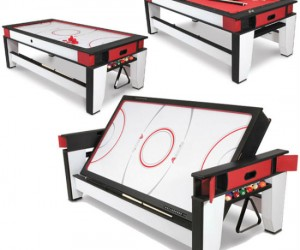 Who says you don't have room for an air hockeyand a billiards table?