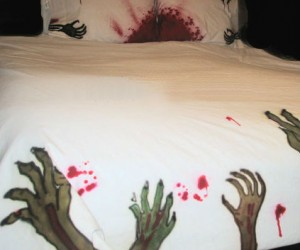 Zombie Bedding Set – Turn your bedroom into the night of the living dead.