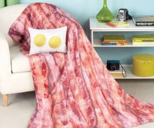 "This blanket and pillow set takes ""breakfast in bed"" to a whole new level!"