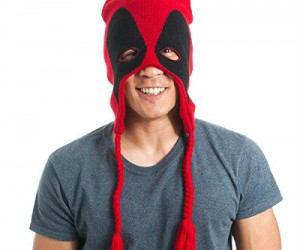 Even Deadpool gets a little chilly in the winter time.