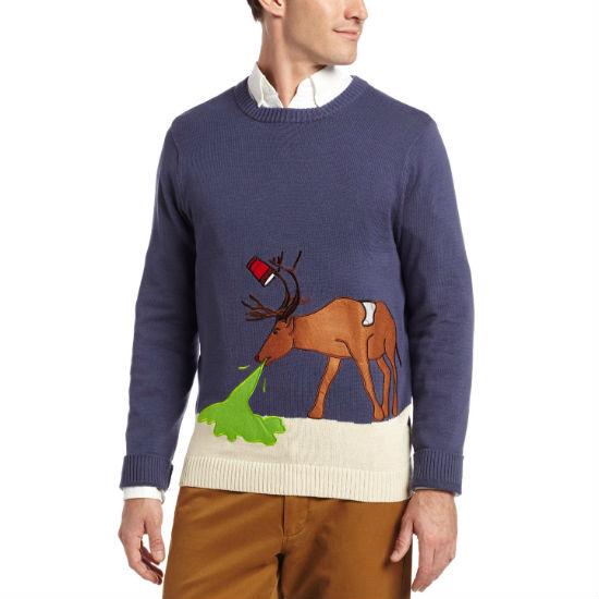 hungover hangover deer ugly christmas sweater