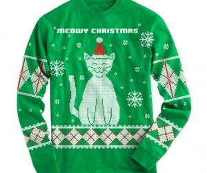 Meowy Christmas Ugly Sweater – We wish you a Meowy Christmas!