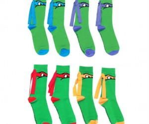 Ninja Turtle Mask Socks – These socks are totally radical!