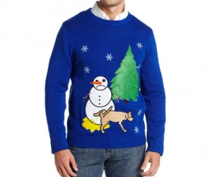 Sad Snowman Ugly Christmas Sweater – You'd be sad too if a dog was peeing on you.