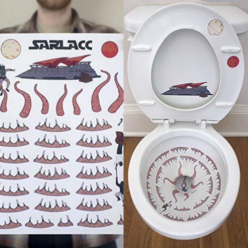 toilet sarlacc sticker set