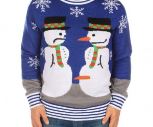 You'll be as happy as Frosty with this ugly sweater!