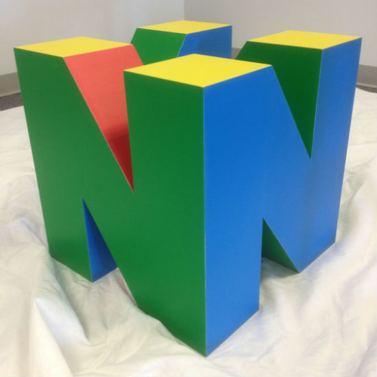 N64 logo coffee table base