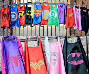 The perfect sized capes for your little superhero!