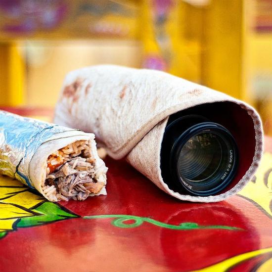 burrito camera lens wrap