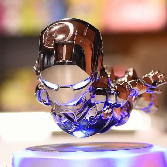 floating iron man action figure