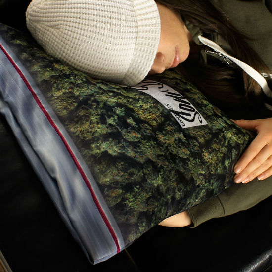 Giant bag of weed pillowcase