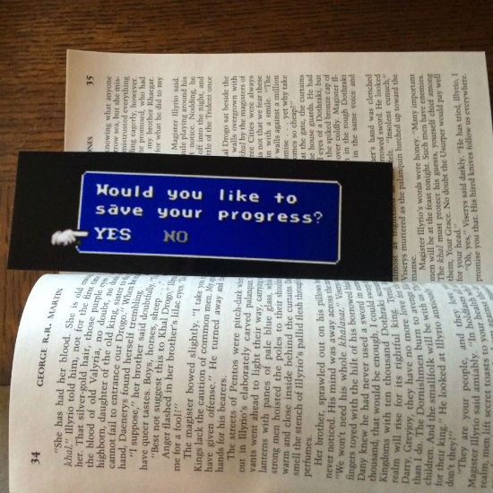 would you like to save your progress bookmark