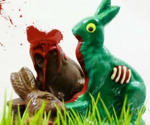 7.5 oz of chocolate zombie bunny goodness!