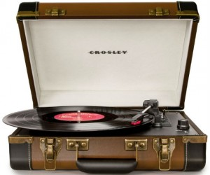 The USB Portable Turntable easily takes your favorite vinyl and converts them to digital files!