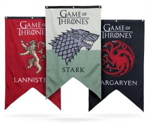 Official licensed Game of Thrones house banners… for your own house!