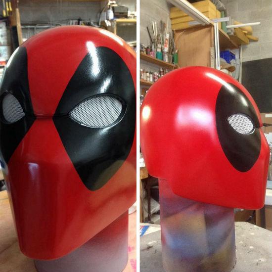 wearable deadpool helmet