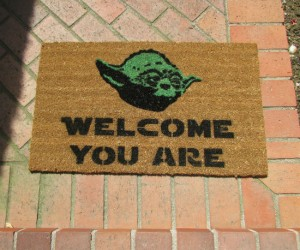 Star Wars Yoda Welcome Mat – Come in you must!