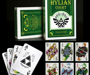 Be the hero Hyrule deserves with these beautifully designed Hylian Court Zelda playing cards!
