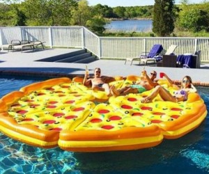 Now combining two of our favorite things… pizza and pools!