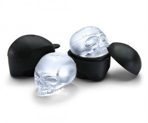 Skull Ice Molds – Make 2 ice skulls for creep-tastic beverage cooling…