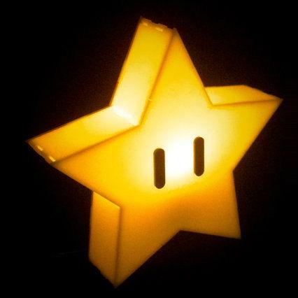 mario star lamp