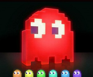 Pac Man Ghost Lamp – This PacMan light features 16 different phasing colors including purple, red, blue, green, yellow, light blue, orange, and so much more perfect no matter the mood
