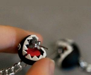 Super Mario Chain Chomp Earrings – Is that a chain chomp nibbling my ear?