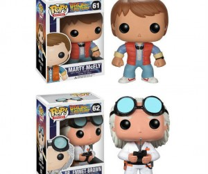 Back To The Future Pop Vinyl Figures – *Note actual figures can't time travel.