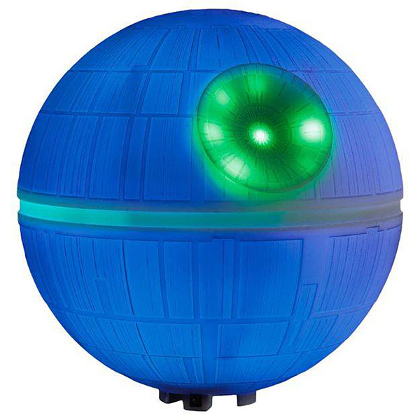 death star christmas tree topper blue