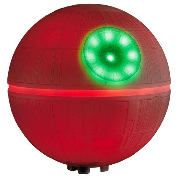 death star christmas tree topper red