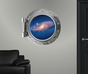 Galaxy Porthole Sticker – Make any room in the house look like you're floating through space!