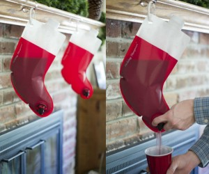 Santa's Stocking Flask – Party like they do in the North Pole this Christmas Eve with Santa's Stocking Flask. Shaped like the classic red & white stockings you hang over your fireplace,