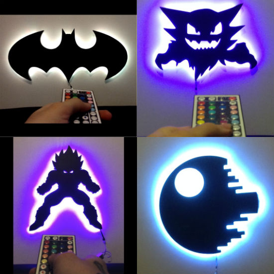 remote control led lamps