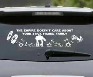 The Empire does not care about your stick figure family.