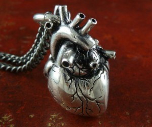 """Nothing says """"I love you"""" like an anatomically correct heart necklace!"""