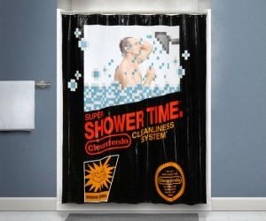 Cleantendo Retro Shower Curtain – Soaper Mario Bros!