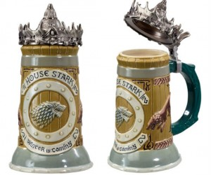 Join House Stark in a toast with this highly detailed ceramic stein!